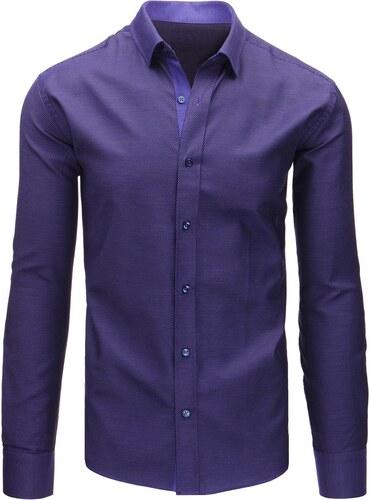 9e6224b07c79 Brand Elegantná pánska slim fit košeľa (dx1459) - fialová dx1459 ...
