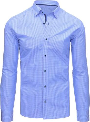 16df74e5bf46 Brand Modrá károvaná pánska košeľa (dx1471) dx1471 - Glami.sk