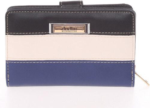 f162a7b6f7e7 Stredne veľká dámska čierno modrá peňaženka - Dudlin M380 modrá ...