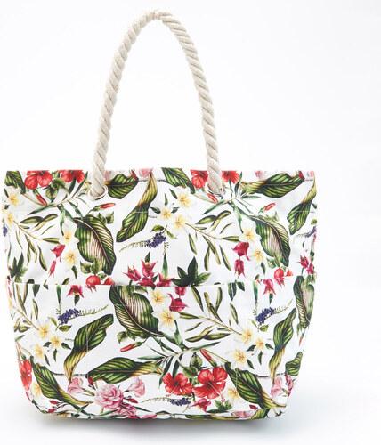 Reserved - Nagy virágmintás táska - Fehér - Glami.hu 9221f17937