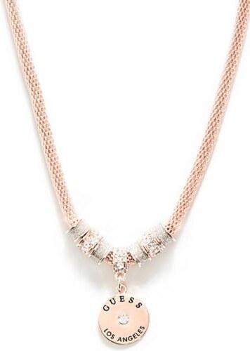 1f781bc1f0 GUESS náhrdelník Rose Gold-Tone Mesh Charm Necklace - Glami.cz