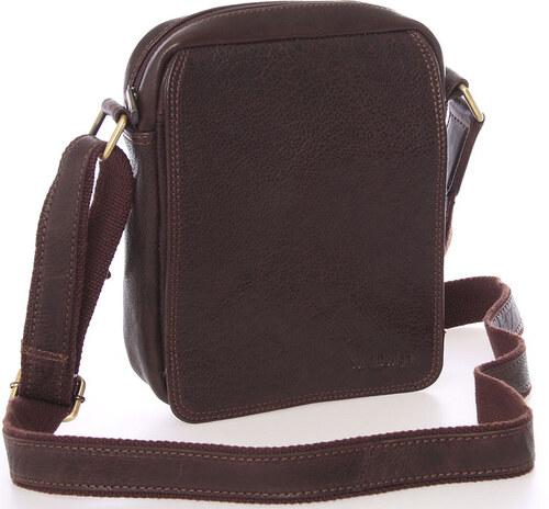Pánska kožená taška na doklady cez rameno hnedá - SendiDesign Didier hnedá 0609536af6a