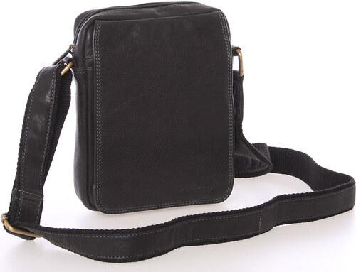 Pánska kožená taška na doklady cez rameno čierna - SendiDesign Dumont čierna b1b051a55bd