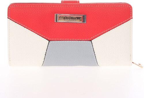 Dámska veľká vzorovaná peňaženka červená - Dudlin M352 červená ... feff61afc09