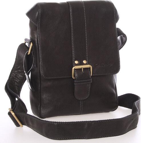 Stredná pánska kožená crossbody taška čierna - SendiDesign Lysander čierna d5657460e98
