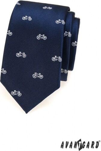 Avantgard Keskeny kék nyakkendő f9be3c6180