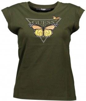 Dámské tričko s motýlem GUESS - bílé 9ad3a5aed8