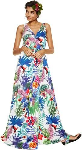 0c5cfbb77f Desigual színes ruha Jasmine trópikus motívumokkal - Glami.hu