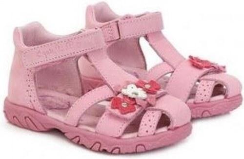 91ba35e2560f Dievčenské sandále kožené D.D.STEP AC290-5010AM daisy pink - Glami.sk