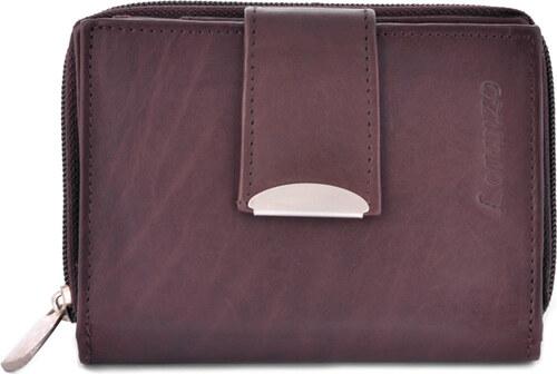 389332addf5 Dámská malá kožená peněženka Loranzo Kristen - Tmavě hnědá - Glami.cz