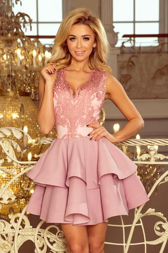NUMOCO CHARLOTTE luxusné ružové šaty 200-5 - Glami.sk eeeb72aac94