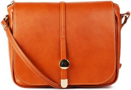 TALIANSKE Talianska kožená kabelka crossbody medová Aurelia a0da608dba2