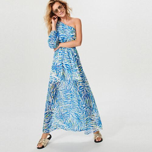 7e0e719b1f2b Reserved - Maxi šaty s tropickým potiskem - Vícebarevn - Glami.cz