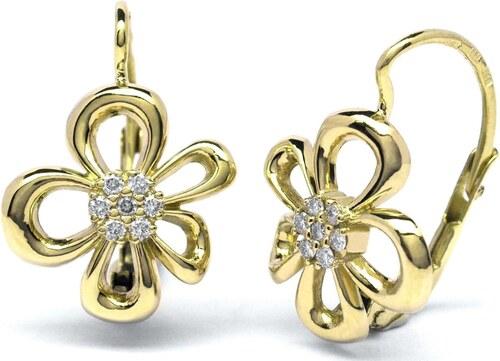 653f57f86 Zlaté diamantové náušnice ze žlutého zlata s diamanty J-30002-18 ...