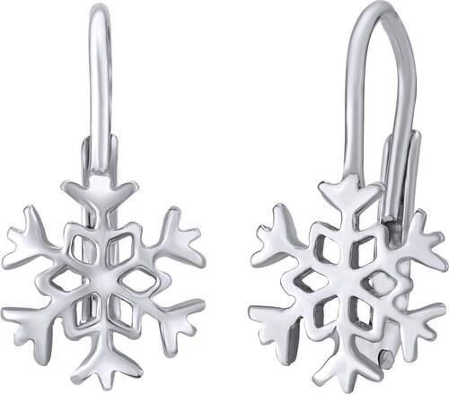 Silvego stříbrné náušnice sněhové vločky B70566 - Glami.cz 2185076ed73