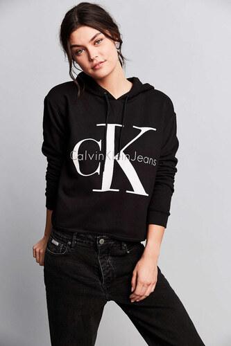12a2e90bd1 Dámská mikina Calvin Klein Jeans s kapucí - černá - Glami.cz