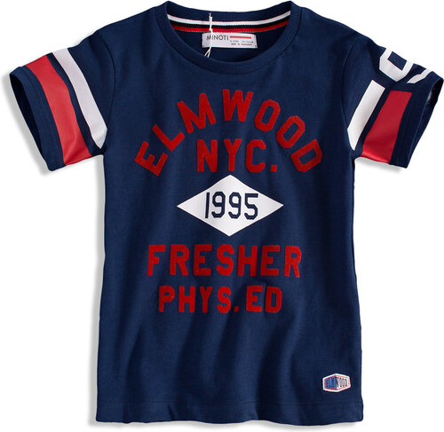 fe8437912 Detské tričko s krátkym rukávom MINOTI ELM tmavo modré - Glami.sk