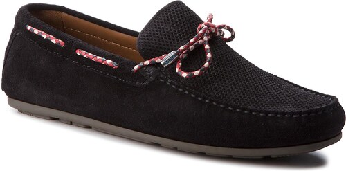faad9ed7a01 Mokasíny TOMMY HILFIGER - Interlace Suede Loafer FM0FM01433 Midnight ...