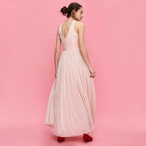 4715eead55 Sinsay - Dlhé vzdušné šaty - Ružová - Glami.sk
