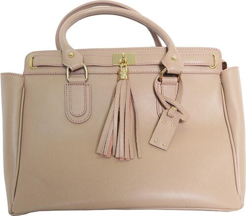 Pudrová kabelka s třásněmi Mia Tomazzi - Glami.cz 2f6214c800