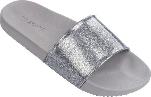 7805dae78c Zaxy sivo-strieborné šľapky Snap Glitter Slide Fem Glitter Silver ...