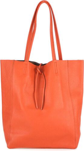 7ff164fef077 Diva Természetes bőr Narancssárga Táska cod. S7080-Orange - Glami.hu