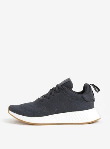 Tmavě šedé pánské tenisky adidas Originals NMD R2 - Glami.cz 066ccb18216
