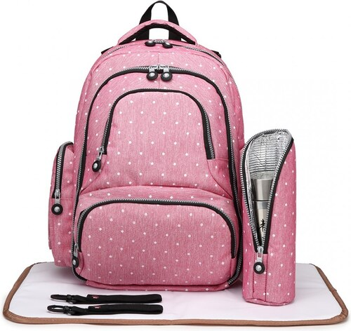 Růžový dámský mateřský velmi praktický batoh Babiel - Glami.sk 6dcdc0399b
