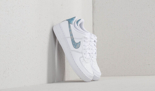 28f3a826611 Nike Air Force 1 (GS) White  Royal Tint  White - Glami.cz