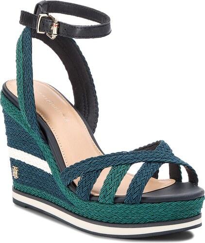 Sandále TOMMY HILFIGER - Wedge Sandal Sporty Outsole FW0FW02251 Midnight 403 cc931a5e7f7