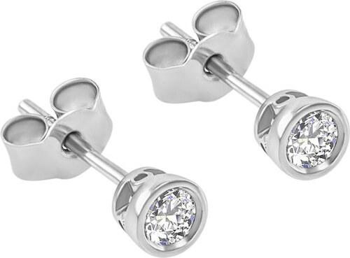 a314de351 Eppi Zlaté náušnice s bezel osadenými 0.20 ct diamantmi Kamali ...