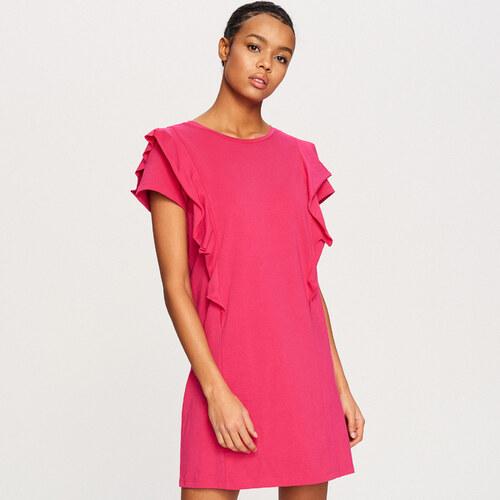 b457d2df73 Reserved - Fodros vállú ruha - Rózsaszín - Glami.hu