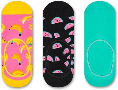013fbf250ba Happy Socks 3 pack barevných pánských nízkých ponožek do tenisek Fruit -  41-46