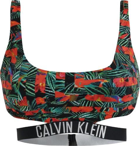 Černý vzorovaný horní díl plavek Calvin Klein - Glami.cz 0a57b5d501