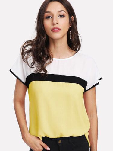 LM moda A Luxusní dámská tunika žlutá 3702 - Glami.cz 738ac551f0
