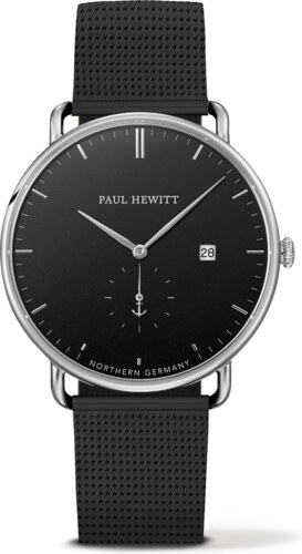 Stříbrné Hodinky Paul Hewitt Grand Atlantic black metal black - Glami.cz 773b67934e8