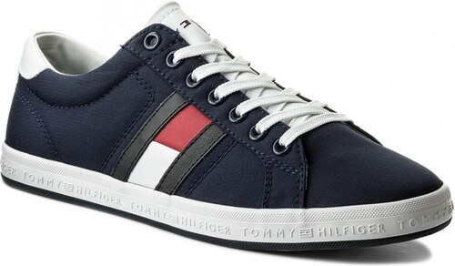 Tommy Hilfiger tmavo modré pánske tenisky Essential Flag Detail Sneaker  Tommy Navy cc93307cb4