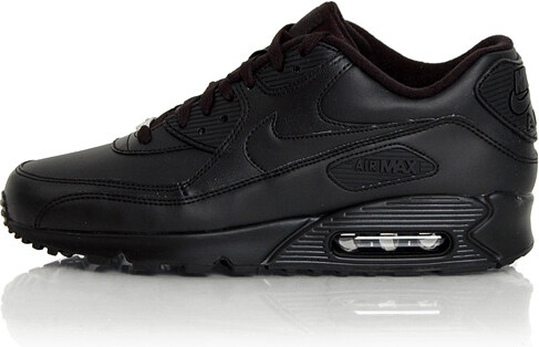 Nike Air Max 90 Leather Black Black 302519-001 - Glami.hu b474115a09