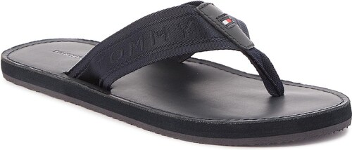 0572eb456e3b Žabky TOMMY HILFIGER - Jacquard Th Leather Beach Sandal FM0FM01365 Midnight  403