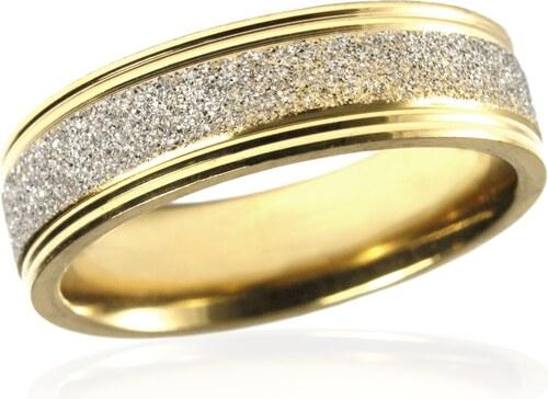 5d462c6d4 BEMI Design Pánsky prsteň z pieskovanej chirurgickej ocele GOLD/SILVER