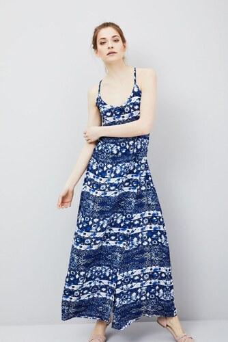 Moodo šaty dámské vzorované dlouhé na ramínka - Glami.cz 77eccbae6c