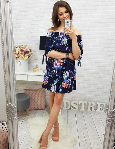 182d5295c326 DSTREET Dámske letné tmavo modré kvetinové šaty Haylie (ey0311 ...
