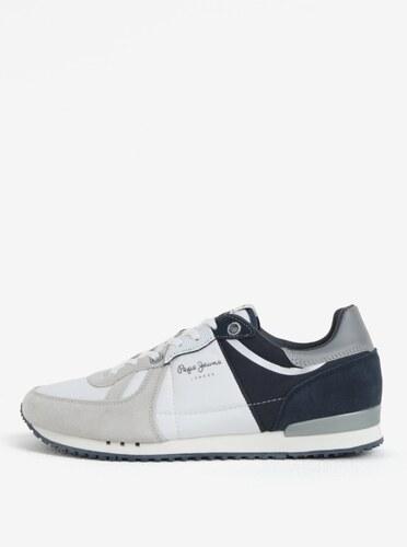 26b91588db54a Modro-biele pánske tenisky Pepe Jeans Tinker - Glami.sk