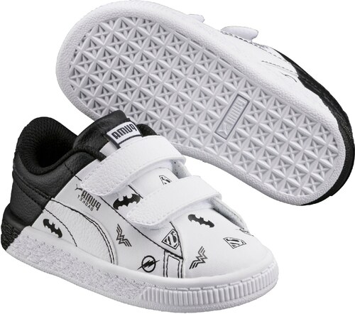 90f645f5072 Puma Chlapčenské tenisky Basket - bielo-čierne - Glami.sk