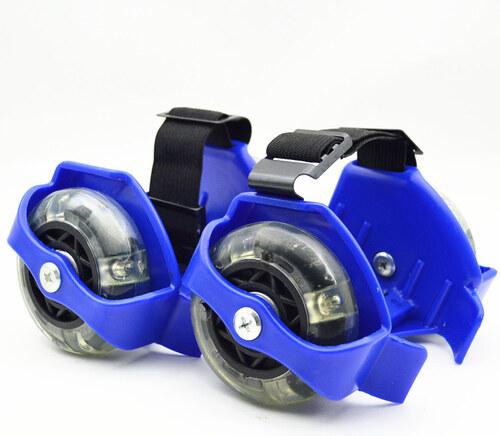 7a03cc5cb22 AC SPORTS Blikající jezdící kolečka na boty- modrá - Glami.cz