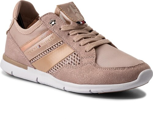 Sneakersy TOMMY HILFIGER - Metallic Light Weight Sneaker FW0FW02996 Dusty  Rose 502 ae0db5aeebd