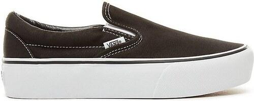 1809da01c0f0 Dámské boty Vans CLASSIC SLIP-ON PLATFORM Black 41 - Glami.cz