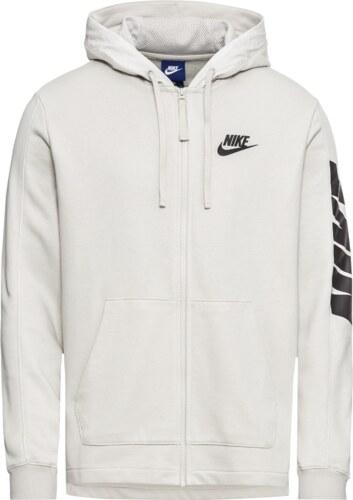 Nike Sportswear Mikina s kapucí  M NSW HOODIE FT FZ HYBRID  světle šedá    černá 14e7dfda84