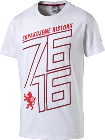 Puma Czech Republic 76 Fan Shirt white-chili Pánské tričko 748758-02 ... d27d4e5446