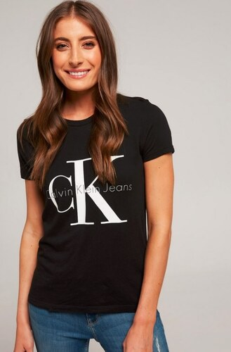 944203a0710 Dámské tričko Calvin Klein Jeans - černá - Glami.cz